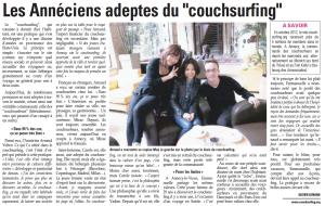"""Les Annéciens adeptes du """"couchsurfing"""""""