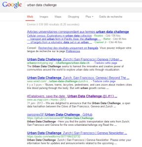 Urban data challenge
